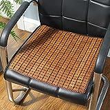 LJ&XJ Durable Cojín de cena de la silla, Rota Bambú Gruesas Respirable Frío Almohadillas para sillas, Lisa Oficina Cojín del asiento, Taburete del estudiante Banco-C 45x130cm(18x51inch)