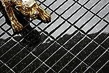10cm x 10cm Muster. Glas Mosaik Fliesen Muster Ziegelstein Format in Schwarz mit Glitzer MT0010 Muster