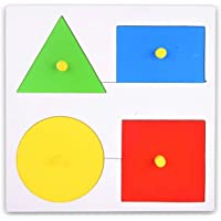 FunBlast Wooden Learning Shapes Puzzle Board for Kids Learning Toy for Kids – (Multicolor; Pack of 1)