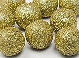 FesteFeiern Weihnachts-Deko I 9 Teile Deko-Kugeln gold je 3cm I Dekoration Adventskranz Gesteck Basteln Tannenbaum Weihnachten