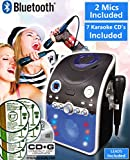 BLUETOOTH CD Player Karaoke Machine Party Pack (Plays CDG+ Karaoke & Music CDs) Connect your TV to display lyrics - Link iPad/iPhone / Tablet - Black/Blue - 2 M1C Inc (Party Pack 3 (7 CDs))