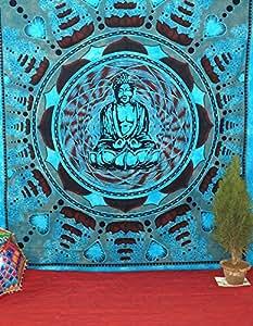 Handicrunch Tenture Motif Bouddha psychédélique
