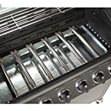 CosmoGrill™ 6+1 Deluxe Gas Burner Grill BBQ Barbecue incl. Side Burner - Black 77 x 42cm
