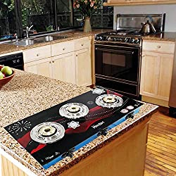 Suraksha Shine Surya Crystal Floral Indian Auto Ignition Full 3 Burner Gas Stove Cooktop (Design May Vary As Per Stock Availability)