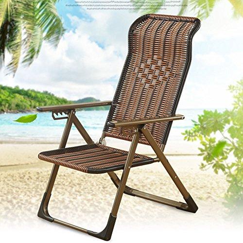 Chaises longues-Mahjong Lit Pliant Au Lit Sieste De Bureau Chaise Chaise De Loisirs Anciennes Chaise en Bambou (Couleur Facultative) -Applicable à l'intérieur et à l'extérieur (Couleur : F)