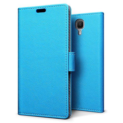 SLEO Doogee X9 Pro Hülle – Premium Luxuriös PU lederhülle [Vollständigen Schutz] [Kreditkartenfach] Flip Brieftasche Schutzhülle im Bookstyle für Doogee X9 Pro - Blau