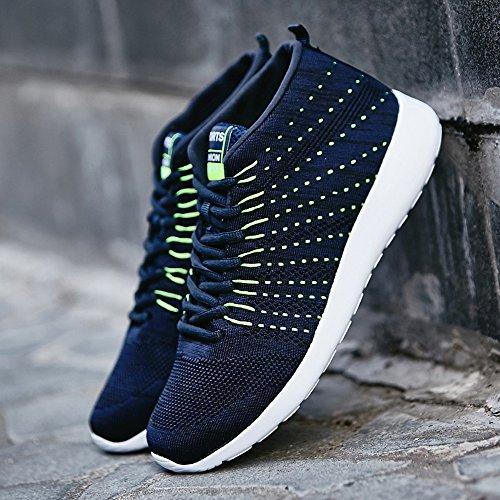 Bainasiqi Mens Sneakers Mesh Sport Scarpe Comode Per Il Tempo Libero Scarpe Da Corsa Fitness Sneakers Street Running Blue-b