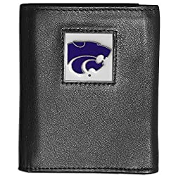 NCAA Kansas State Wildcats Deluxe Leather Tri-fold Wallet