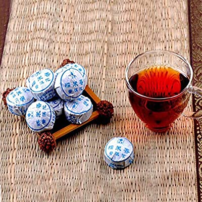 Thé chinois puer mûr chinois Yunnan MINI thé Shu Puerh 100g (0.22LB) Thé noir Nourriture verte Thé Pu'er Thé chinois Thé au thé Thé mûr Shu Cha Nourriture saine Thé Pu-erh Vieux arbres Thé Puh Thé cuit Thé rouge