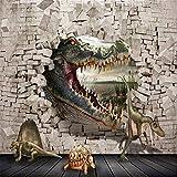 YUANLINGWEI Benutzerdefinierte Wandbild Tapete Kinder Zimmer Hintergrund Wand Papier Wohnkultur 3D Krokodil Dinosaurier Schildkröte Muster Tapete,230cm (H) X 310cm (W)