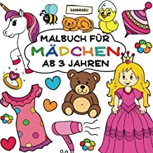 Malbuch Mädchen ab 3 Jahren: Großer Malspaß im Quadrat