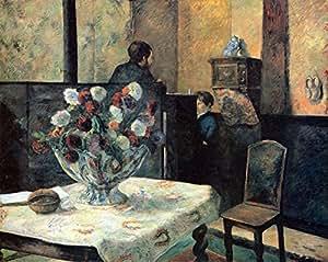 """Le musée Outlet intérieur de peintre de Rue Carcel Par Gauguin-Toile 24 x 18 cm """")"""