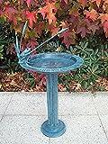 Vogeltränke mit Sonnenuhr, Bronzeguß