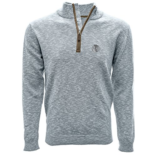 Levelwear LEY9R NHL Marina Quarter Zip Pullover, Herren, Marina Quarter Zip Sweater, Heather Pebble, X-Large Patch-1/4 Zip Pullover