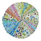 40 piezas de 20 cm x 25 cm tela de algodón estampado de dibujos animados,telas para hacer patchwork, telas tilda, retales de telas, tela algodon por metros