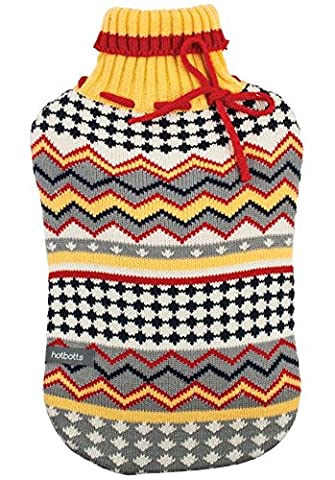 Ladelle Hotbotts Hot Water Bottle with Jersey Cover, Hazel Design (74011) by Ladelle