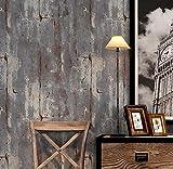 PEIWENIN-Rétro Rétro Fonds d'écran simples Non-tissés Ciment Motifs de mur Style industriel Fonds d'écran Bars Restaurant Cafés Autocollants d'art individuel, violet