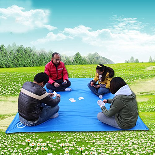 Paciffico Outdoor Waterproof Thick Oxford Cloth Tent Sleeping Pads For Picnic Camping Hiking Beach Backpacking Activities Sky Blue Groundsheet Blanket Mats