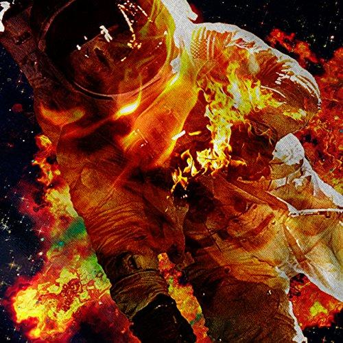 Astronaut Galaxis Platz Platz Brennen Damen S-2XL Muskelshirt | Wellcoda Marine