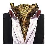 YCHENG Herren Krawattenschal Elegant Jacquard Paisley Floralem Muster Cravat Accessoires LJA-06 Braun One Size