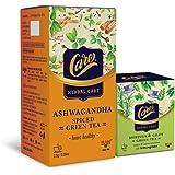 Care Ashwagandha Spiced Green Tea - 25 Tea Bags + Care Moringa & Giloy Green Tea with Lemongrass - 20 Tea Bags