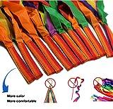 12Pcs Hand Held Dance Rainbow Ribbon,Rhythm Ribbon Toys for Children by ZLXC