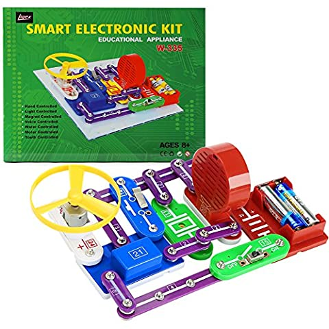 Lujex DIY Electronics Block Kit Educational Science Experiment Assembly Toys for Kids Children (Colorful)