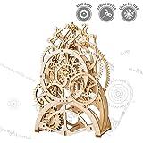 ROKR Holzzahnrad Uhr-Laser geschnitten Pendeluhr Modellbau Bausätze mechanische Holzzahnrad - 3D Holz Puzzle Denkaufgabe für Kinder, Jugendliche und Erwachsene