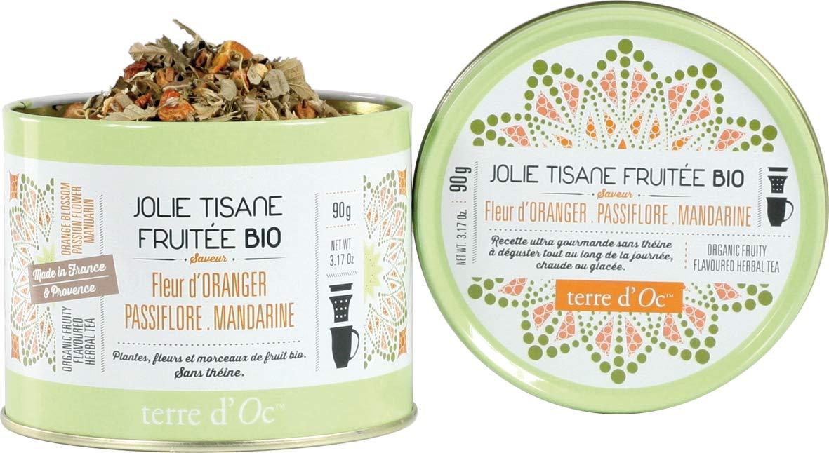 Terre-dOc-Bio-Krutertee-mit-Orangenblte-Passionsblume-und-Mandarine-in-dekorativer-Metalldose-90-g