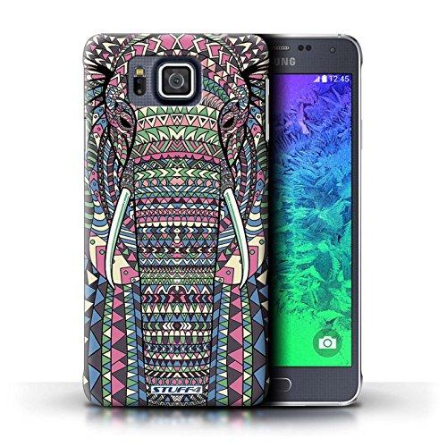 Kobalt® Imprimé Etui / Coque pour Samsung Galaxy Alpha / Loup-Rouge conception / Série Motif Animaux Aztec éléphant-Couleur