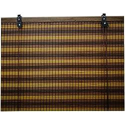 Jalousie holz / Jalousie fenster / Jalousie fenster / Jalousie bambus, breite x länge = (110 x 135 cm, Trikolore)