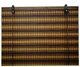 Jalousie holz / Jalousie fenster / Jalousie fenster / Jalousie bambus, breite x länge = (60 x 135 cm, Trikolore)