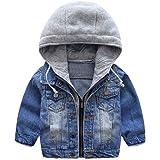 Niño Capucha Chaqueta Vaquera Abrigo Bebé Cazadora Vaquera Niñas Denim Jacket Manga Larga Mezclilla Jacke Trajes De Otoño Inv
