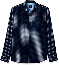 Allen Solly Mens Casual Shirt (8907587582368_AMSF517G00995_38_Dark Grey With Black)