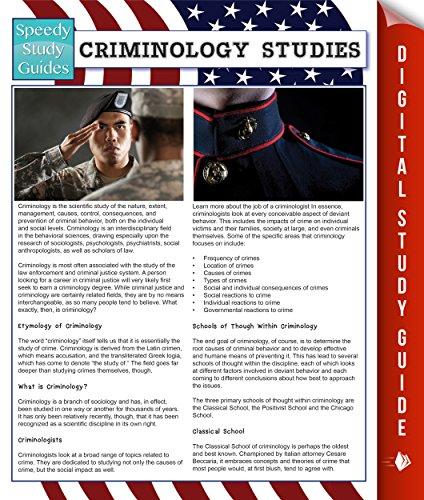 Criminology Studies (Speedy Study Guides)