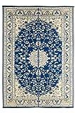 #9: Plastic Floor Mats, Plastic Mat, Plastic Rugs (Chatai) for Home, Living Room, Bedroom, Kids floor, Garden in Size 4 x 6, Drum blue 5065a
