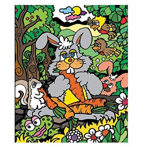 Colorvelvet 37x 28cm Conejo Sistema de Dibujo para Colorear (tamaño Mediano