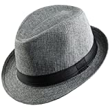 Shanxing -  Cappello Fedora  - Uomo grigio scuro Taglia unica