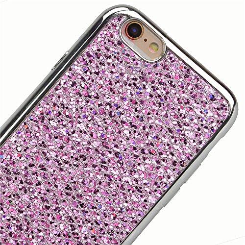iPhone 6 / iPhone 6s Hülle, Yokata Glitzer Silikon Weich Case mit Bumper Bling Luxury Dünn Case Schutzhülle Protective Cover Lila