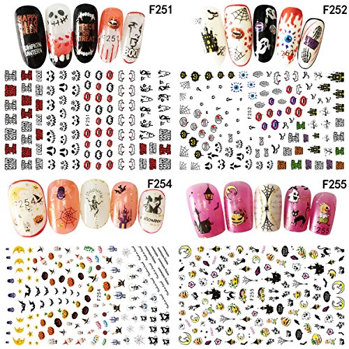 t Sticker 100verschiedene Designs Beste Nail Art Aufkleber für Damen (Halloween 3d-nägel)