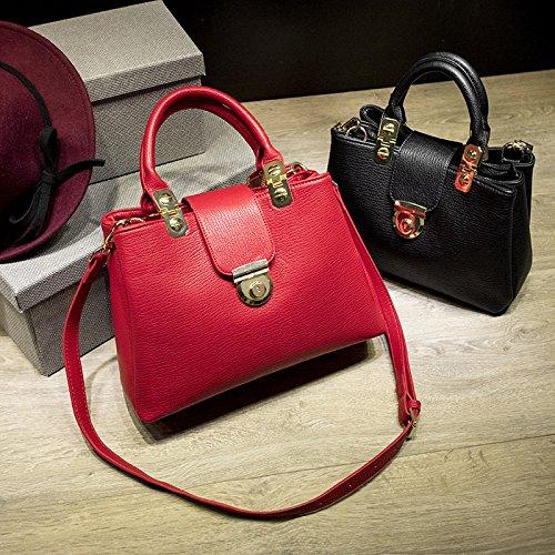 X&L Frauen's Mode Handtasche Schulter Messenger bag Red