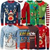 6193uYo5s%2BL. SS100  - ღLILICATღ Mujer Sudaderas Navidad Jersey Casual Camisa Navideña Estampada de Reno Blusa Cómodo Pullover Caliente Suéter Ropa de Invierno Tops S-2XL