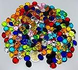 200 Stück 15mm große bunte Deko-Diamanten Brillianten Strasssteine Acryl-Steine bunt transparent klar kristall basteln Gltzersteine Schmuck-Steine Strass-Steine zum Verzieren Dekorieren Streu-Deko Tisch-Deko von CRYSTAL KING