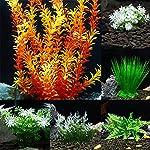 ALCYONEUS Green Fake Aquarium Plant Water Grass Ornament Fish Tank Plastic Decoration - #10 6