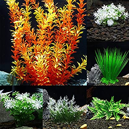 ALCYONEUS Green Fake Aquarium Plant Water Grass Ornament Fish Tank Plastic Decoration - #10 2