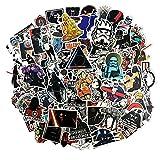 Sanmatic Aufkleber Pack [100pcs], Star Wars Aufkleber Decals Vinyls für Laptop, Autos, Motorrad, Fahrrad, Skateboard Gepäck, Autoaufkleber Hippie Aufkleber Bombe Wasserdicht …