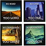 Indianara 4 Piece Set Of Framed Wall Hanging Motivational Office Decor(1145) Art Prints 8.7 Inch X 8.7 Inch Without Glass