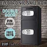 Autovictoria Caja Fuerte Empotrable Caja de seguridad doble puerta, Caja fuerte digital depósito de dinero arma joyas