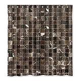 DOUBEE Personalisiert Fliesen Mosaik Wasserdichtes Duschvorhänge PEVA Shower Curtain 167cm x 183cm