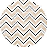 Cuadros Lifestyle 2D-Wandobjekt aus Holz | Muster | Zick-Zack | Wandteller | Holzbild | Shabby-Look | Landhaus | Vintage | Holzobjekt | Deko | Holzdruck | Geschenk, Größe:ca. 40x40cm
